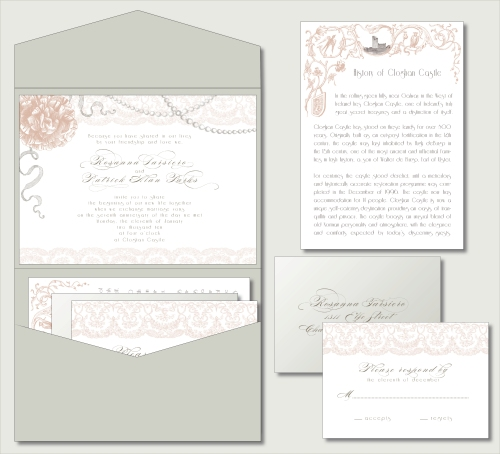 vintage glam invitation
